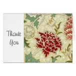 William Morris Red Floral Wallpaper Stationery Note Card