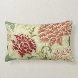 William Morris Red Floral Wallpaper Throw Pillows