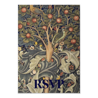 """William Morris Reply Card for Square Invitations 3.5"""" X 5"""" Invitation Card"""