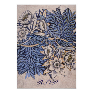 William Morris Reply Cards for Square Invitations