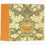 William Morris rich floral pattern Binder