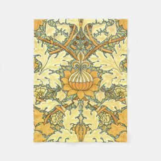William Morris rich floral vintage pattern Fleece Blanket