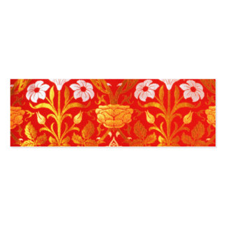 William Morris Rose and Lily Double-Sided Mini Business Cards (Pack Of 20)