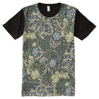 William Morris Seaweed Pattern Floral Vintage Art All-Over-Print T-Shirt