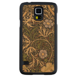 William Morris Seaweed Pattern Floral Vintage Art Carved Cherry Galaxy S5 Slim Case