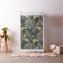 William Morris Seaweed Pattern Floral Vintage Art Fabric