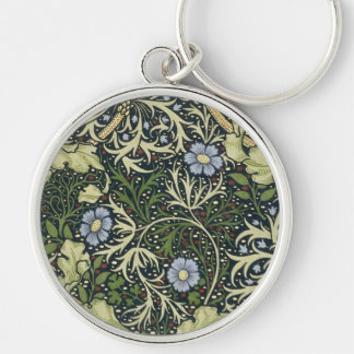 William Morris Seaweed Pattern Floral Vintage Art Keychain