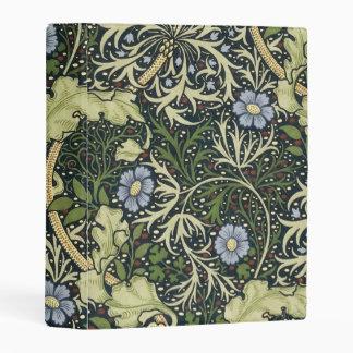 William Morris Seaweed Pattern Floral Vintage Art Mini Binder