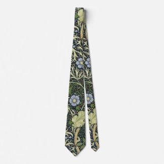 William Morris Seaweed Pattern Floral Vintage Art Neck Tie