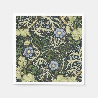 William Morris Seaweed Pattern Floral Vintage Art Paper Napkin