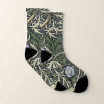 William Morris Seaweed Pattern Floral Vintage Art Socks