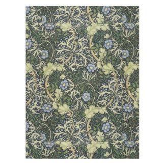William Morris Seaweed Pattern Floral Vintage Art Tablecloth