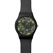 William Morris Seaweed Pattern Floral Vintage Art Watch