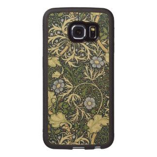 William Morris Seaweed Pattern Floral Vintage Art Wood Phone Case