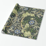 William Morris Seaweed Pattern Floral Vintage Art Wrapping Paper at Zazzle