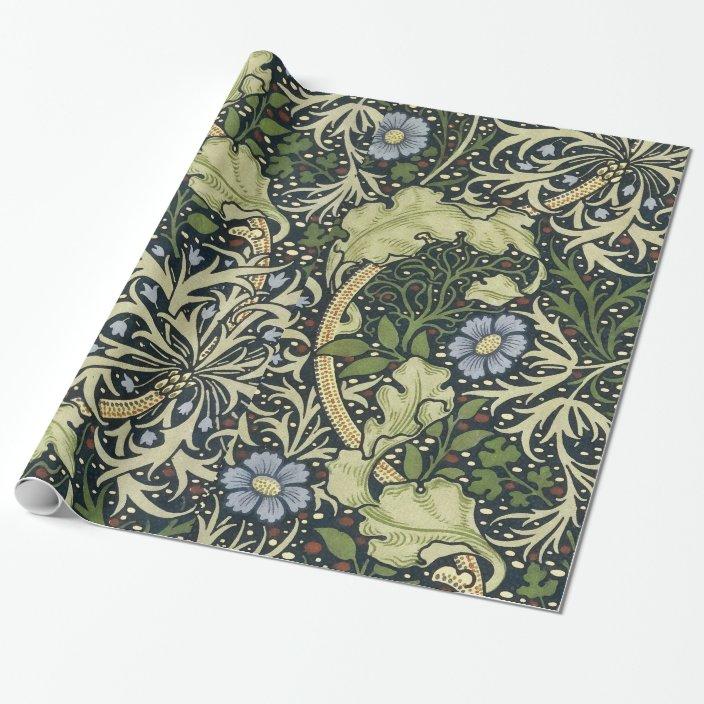 William Morris Seaweed Pattern Floral Vintage Art Wrapping Paper