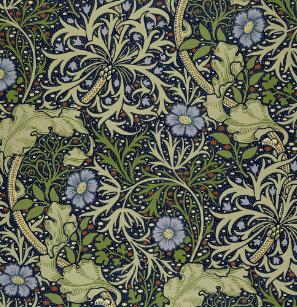 William Morris Seaweed Pattern Shower Curtain