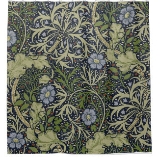 William Morris Seaweed Pattern Shower Curtain. Shower Curtain