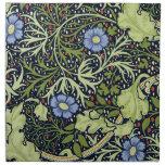 William Morris Seaweed Wallpaper Pattern Printed Napkin