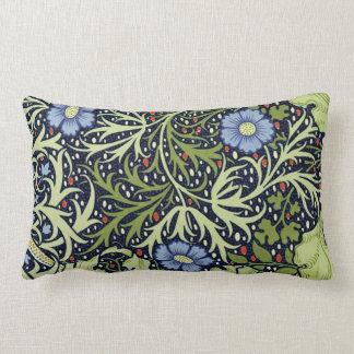 William Morris Seaweed Wallpaper Pattern Throw Pillow