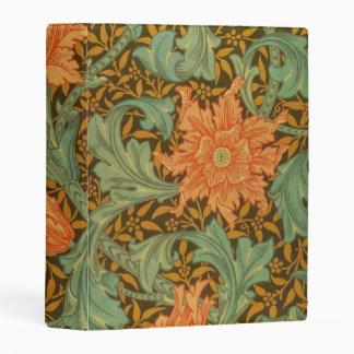 William Morris Single Stem Pattern Art Nouveau Mini Binder