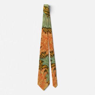 William Morris Single Stem Pattern Art Nouveau Neck Tie