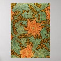 William Morris Single Stem Pattern Art Nouveau Poster