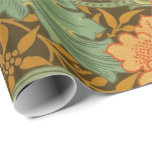 William Morris Single Stem Pattern Art Nouveau Wrapping Paper at Zazzle
