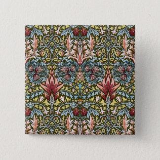 William Morris Snakeshead Art Wallpaper Pattern Button