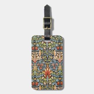 William Morris Snakeshead Design Bag Tag