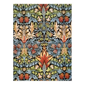 William Morris Snakeshead Design Postcard