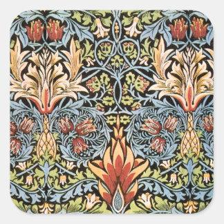 William Morris Snakeshead Design Square Sticker