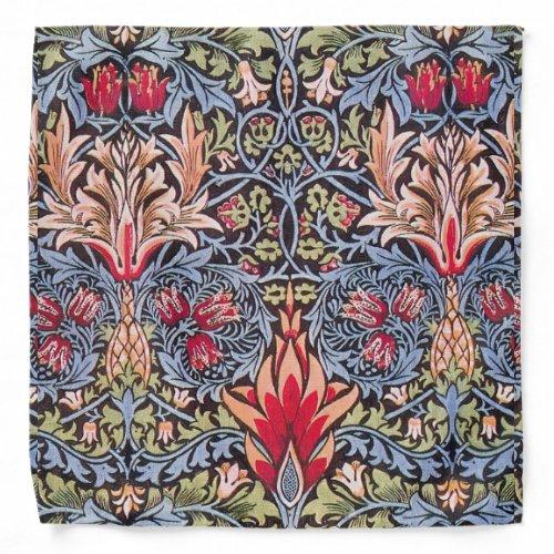 William Morris Snakeshead Floral Art Nouveau Bandana