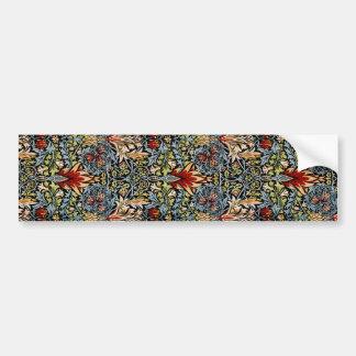 William Morris Snakeshead Floral Design Car Bumper Sticker
