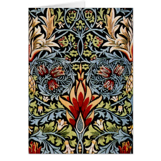 William Morris Snakeshead Floral Design Stationery Note Card