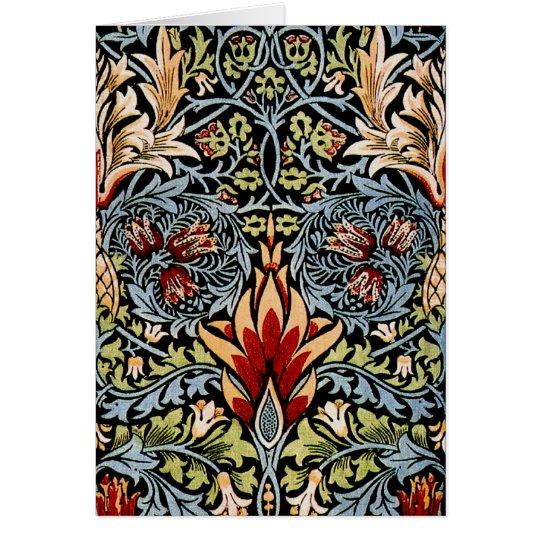 William Morris Snakeshead Floral Design Card