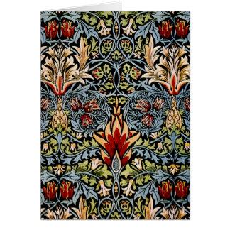 William Morris Snakeshead Floral Design Greeting Card