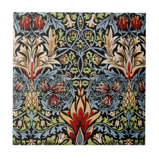 William Morris Snakeshead Floral Design Ceramic Tile