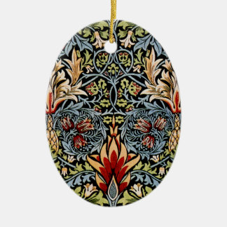 William Morris Snakeshead Floral Design Christmas Ornaments