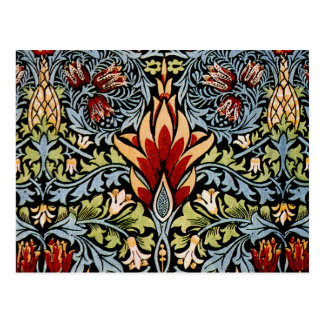 William Morris Snakeshead Floral Design Postcard