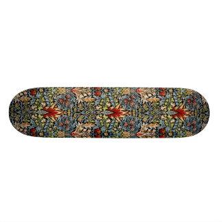 William Morris Snakeshead Floral Design Skateboard