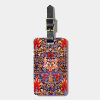 William Morris Snakeshead Vintage Floral Travel Bag Tag