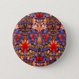 William Morris Snakeshead Vintage Floral Pinback Button