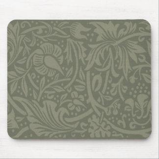 William Morris Soft Green Floral Vintage Pattern Mouse Pad