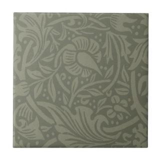 William Morris Soft Green Floral Vintage Pattern Tile