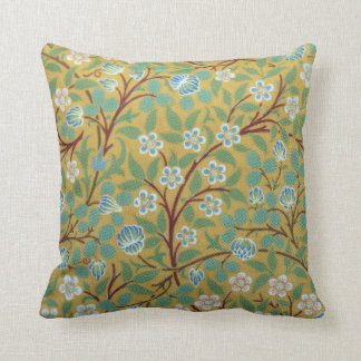 William Morris Spring Green Clover Throw Pillow