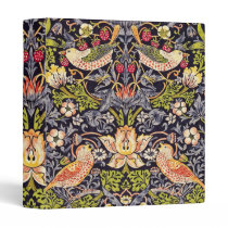 William Morris Strawberry Thief Floral Art Nouveau 3 Ring Binder