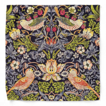 William Morris Strawberry Thief Floral Art Nouveau Bandana