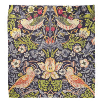 William Morris Strawberry Thief Floral Art Nouveau Bandana