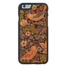 William Morris Strawberry Thief Floral Art Nouveau Carved Cherry iPhone 6 Slim Case